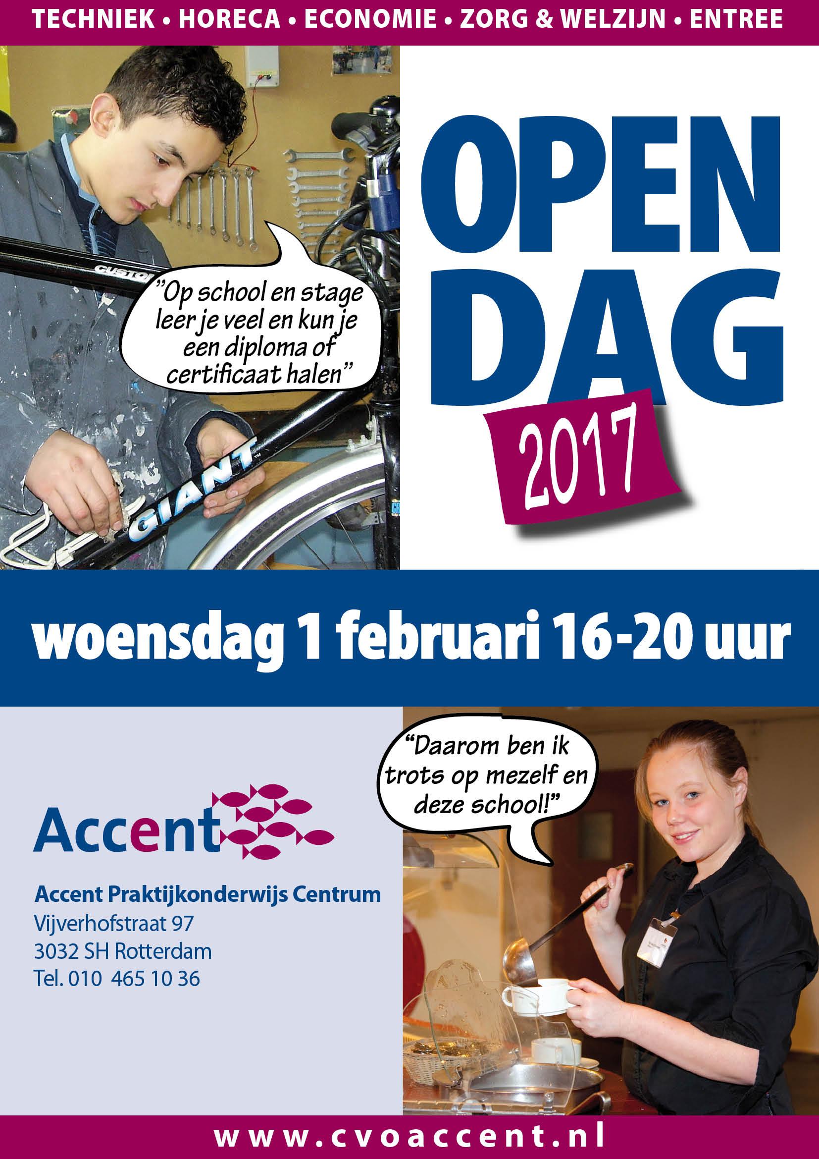 Posters Open Dagen 2017 Accent Praktijkonderwijs