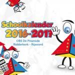 Kalender OBS De Piramide 2016-2017