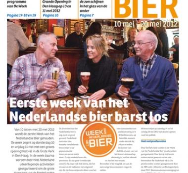 Eerste krant van Week van het Nederlandse Bier uit