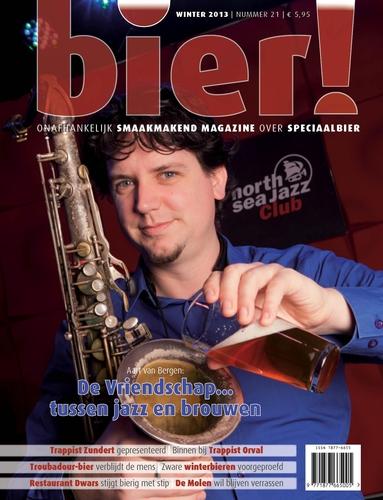Bierbrouwende jazzsaxofonist op cover Bier! 21