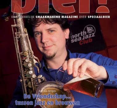 Bierbrouwende jazzsaxofonist op de cover van Bier! 21
