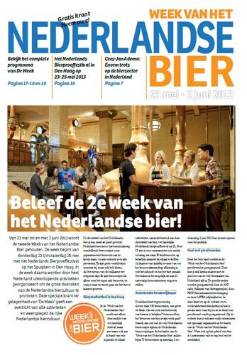 2e Krant van de Week van het Nederlandse Bier verschenen