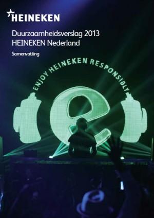 Duurzaamheidsmagazine 2013 voor HEINEKEN Nederland