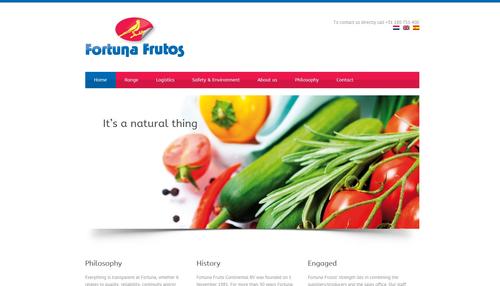 Nieuwe website en logo voor Fortuna Frutos Continental