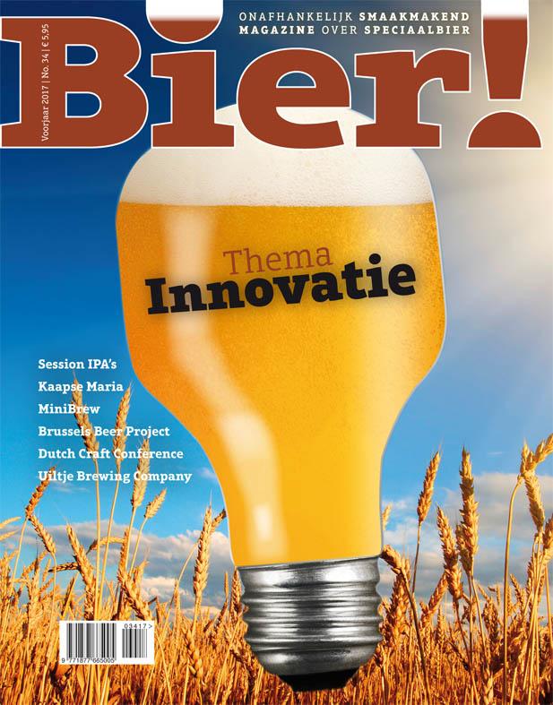 Thema 'innovatie' in Bier! magazine nr. 34